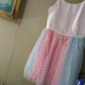 Cat and Jack muti colored tutu dress with sparkles